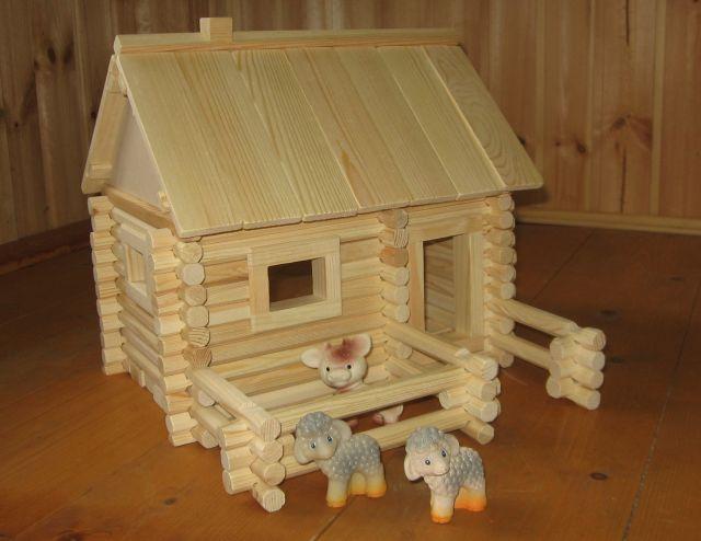 Как сделать игрушечный деревянный домик