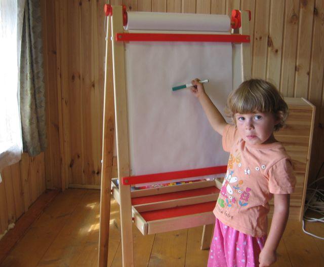 Как сделать мольберт детский
